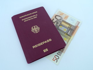 Reisepass Geld 50 €