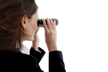 binocular business woman