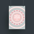 pink vinyl record design for poster template