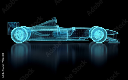Foto op Canvas F1 Formula One Mesh