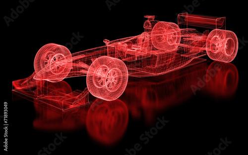 Naklejka Formula One Mesh