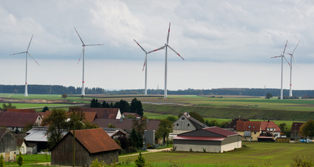 Windpark auf der Schwäbischen Alb