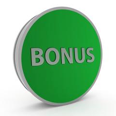 Bonus circular icon on white background