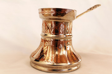 Traditional Bosnian and Turkey copper caffee pot