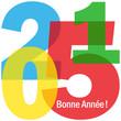 """Carte de Voeux Carte """"BONNE ANNEE 2015"""" (happy new year)"""