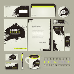 abstract Chinese calligraphy design for corporate identity