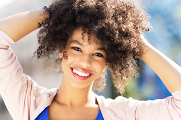 Attractive African American woman