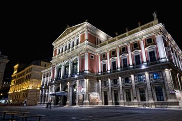 Austria, Vienna, concert hall, night view