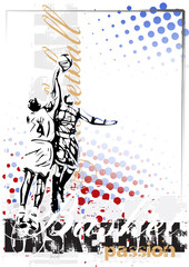 basketball vector poster background