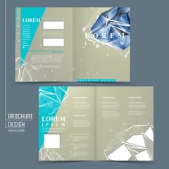 half-fold brochure template with diamond element
