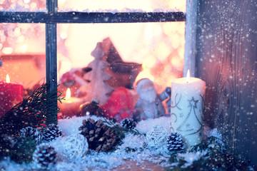 winter fenster deko