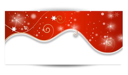 winter landschaft schnee banner rot