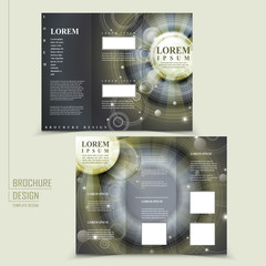 abstract Egypt style design for tri-fold brochure