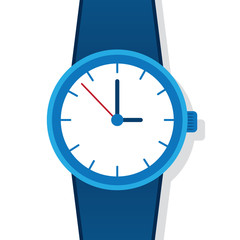 Large blue watch face and strap