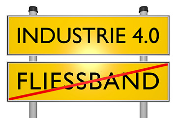 Fliessband vs INDUSTRIE 4.0_techn. Revolution - 3D