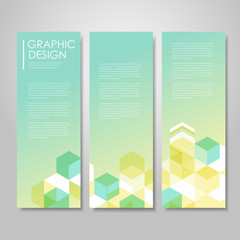 simple background for banners set with hexagons element