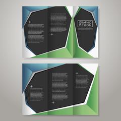 paper style design for tri-fold brochure