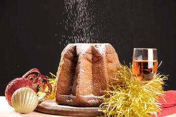 Traditional italian Christmas cake Pandoro