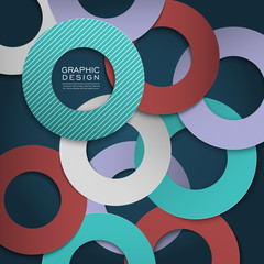 colorful circle layout design for poster