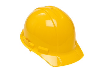 Yellow Hardhat Isolated On White