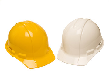 Two Construction Hardhats