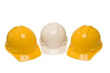 Three Construction Helmets