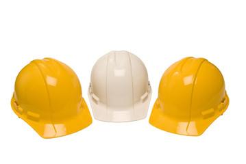 Three Construction Helmets