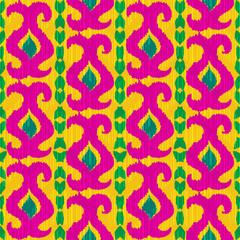 Cololrful ikat seamless pattern