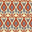 Traditional fabric ikat pattern