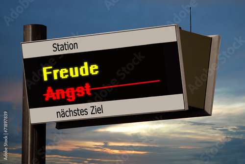 canvas print picture Anzeigetafel 4 - Freude