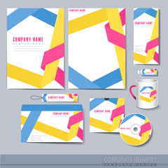 origami folded lines background design for corporate identity se