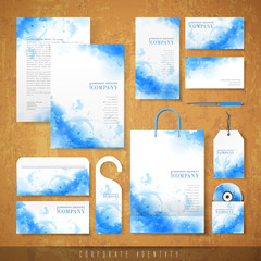 watercolor style background design for corporate identity
