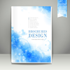 watercolor style background design for book cover