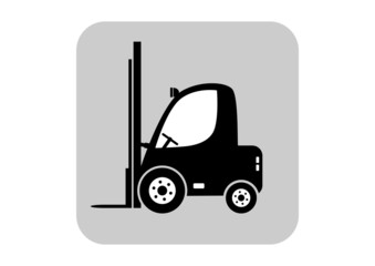 Forklift vector icon