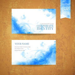 watercolor style background design for business card