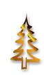 goldene Tannenbaumsilhouette...