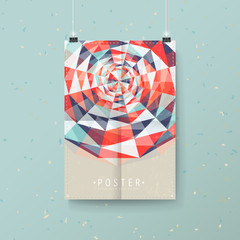abstract colorful geometric background design for poster