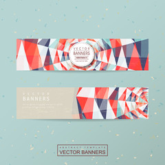 colorful geometric background design for banners set