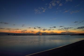 浜名湖弁天島の夕景