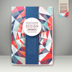 colorful geometric background design for book cover