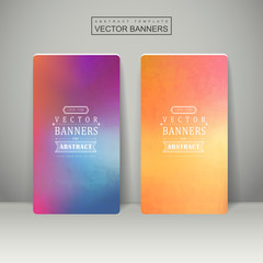smooth colorful background design for banners set