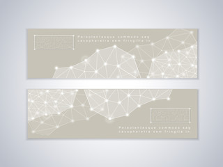 soft geometric background design for banners set
