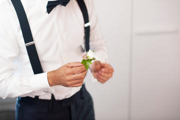 Boutonnière per vestito dello sposo