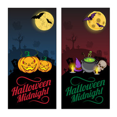 Halloween banners or flyers concept.
