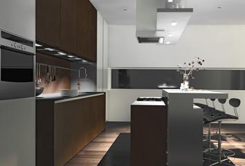 Einbauküche mit Spülnische