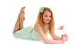 Preteen Dancer Girl with Flower