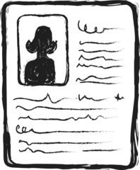 profile doodle icon