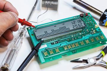 controllo su scheda elettronica