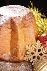 Pandoro. Traditional italian Christmas cake