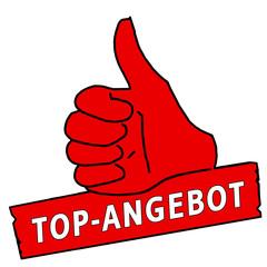 tus40 ThumbUpSign tus-v6 Daumen hoch Top-Angebot - rot g2140